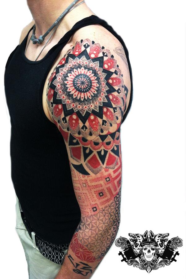 Zach's dotwork tattoo lehighvalley tattoo artist Dankline