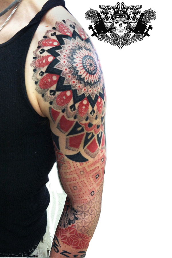 Zach's dotwork tattoo lehighvalley tattoo artist Dankline