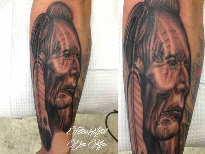 native american tattoo native american portrait tattoo