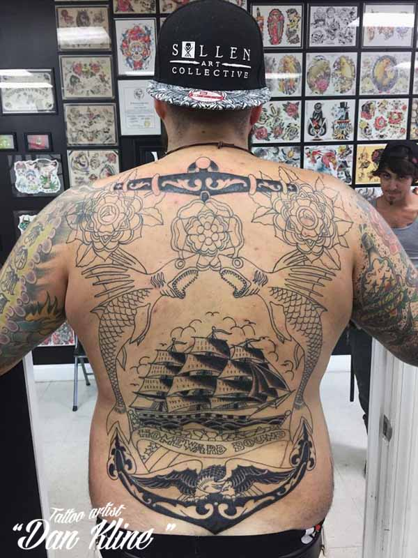 sailor jerry tattoo backpiece tattoos traditional tattoo